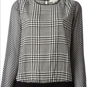 Michael kors Houndlooth print blouse Xs